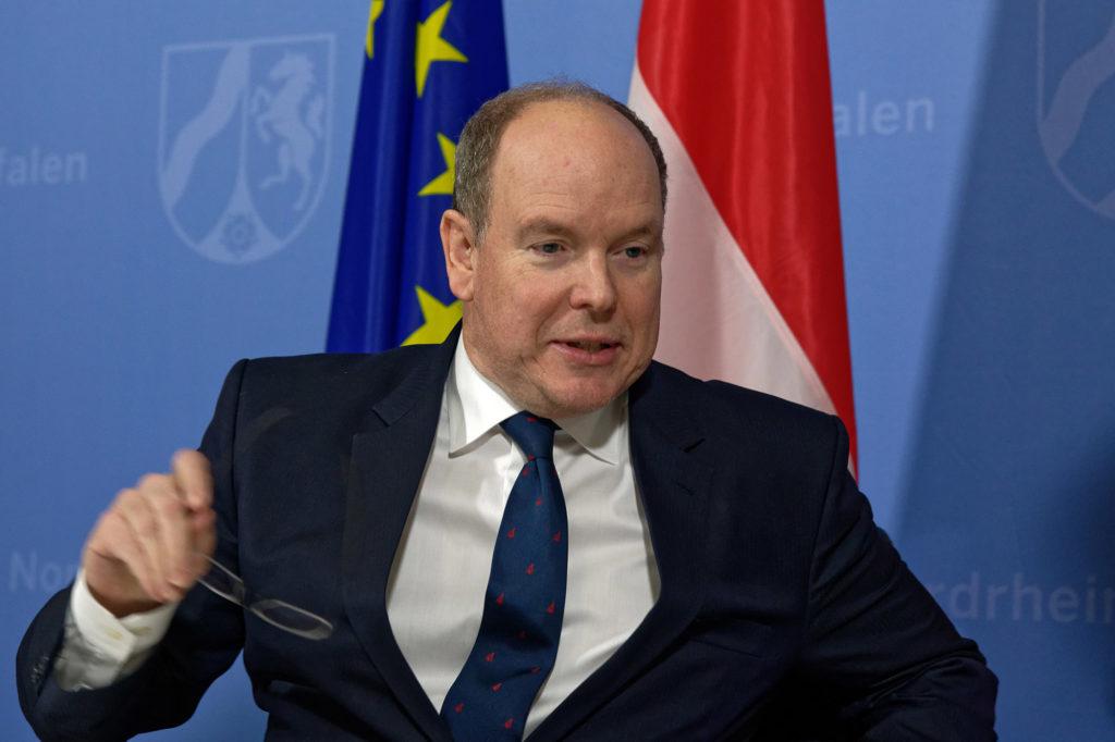 Fürst Albert II. von Monaco besuchte am 21. Januar 2019 die Staatskanzlei in Düsseldorf