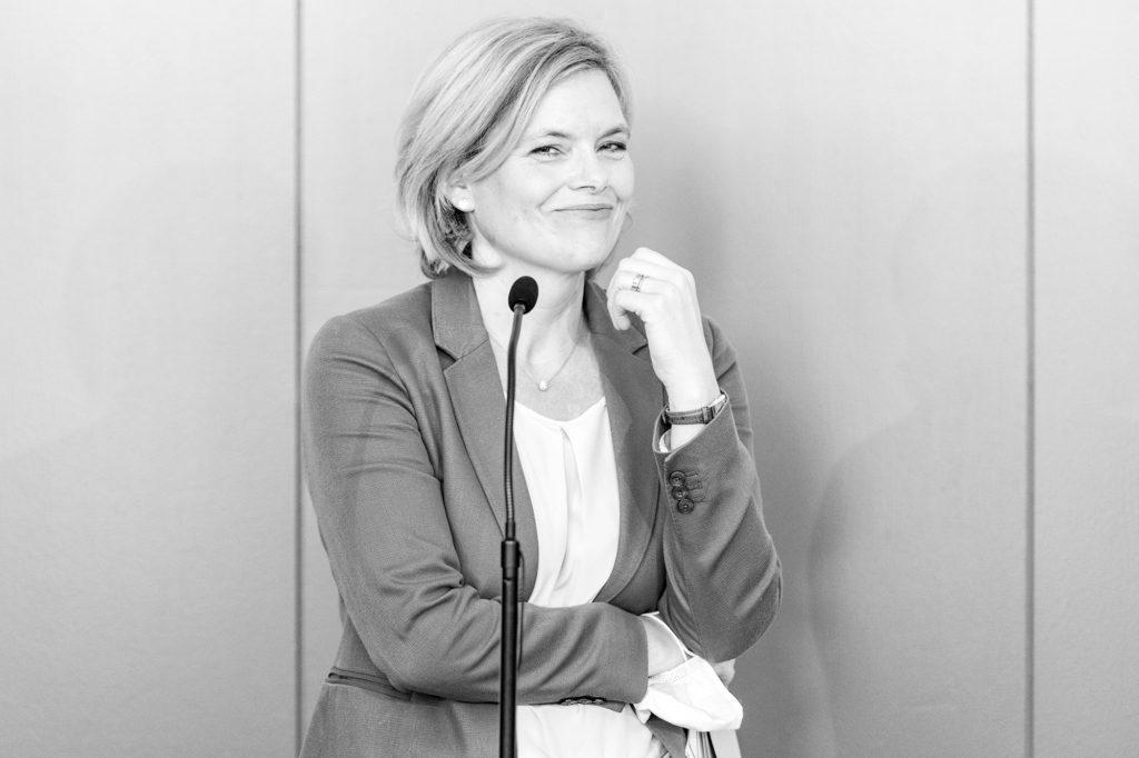 Die Bundesministerin für Ernährung, Landwirtschaft und Verbraucherschutz Julia Klöckner am 26. Juni 2020 in Düsseldorf