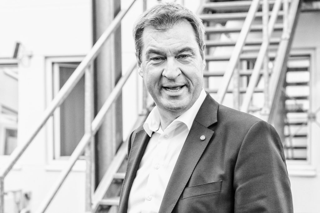 Der bayerische Ministerpräsident Markus Söder im Anschluss an das Einzelgespräch bei Sandra Maischberger am 21. August 2019