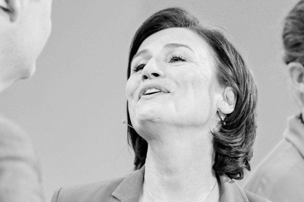"Sandra Maischberger im Anschluss an ihre Talkrunde ""maischberger.die Woche"" am 29. Januar 2020"